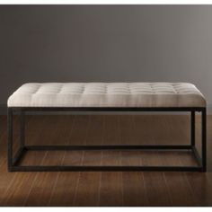 Add a unique flair to your decor with this stylish coffee table ottoman by Renate. Made with a solid metal frame to ensure its durability, this table has a tufted, foam-filled top that enhances its beauty and makes it comfortable to sit on. Leather Ottoman Coffee Table, Upholstered Coffee Tables, Ottoman Table, Tufted Bench, Table Bench, Upholstered Ottoman, Stylish Coffee Table, Home Coffee Tables, Furniture Deals