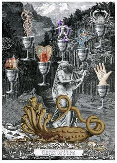 Seven of Cups - Arthur Taussig Collage Tarot