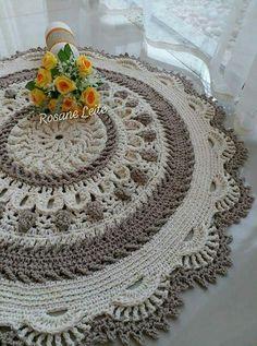 Round area rug 625 in crochet rug crochet decor doily Crochet Rug Patterns, Crochet Mandala, Doily Patterns, Filet Crochet, Crochet Doilies, Knit Crochet, Crochet Carpet, Crochet Home, Crochet Table Topper