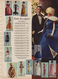 Vintage Barbie.  Sears Wishbook 1964.