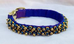 Your place to buy and sell all things handmade Luxury Dog Collars, Pet Collars, Cool Pins, Gold Glass, Modern Luxury, Iridescent, Envy, Glass Beads, Beaded Bracelets