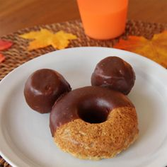 Ready to add a little whimsy to your autumn fare? Turn a batch of homemade cider donuts into chocolate-dipped Mickey Mouse treats.