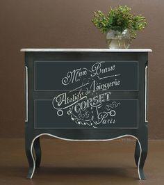 """Wandschablonen - Schablone - """"Lingerie"""" Vintage Style ... - ein Designerstück von PreciousWalls bei DaWanda"""