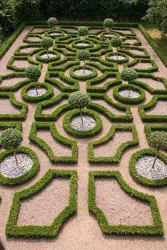 Parterre: an ornamental garden arrangement.