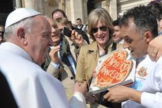 Here's why somebody delivered a pizza to Pope Francis