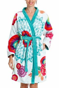 Desigual Galactic jacquard bathrobe. Our exceptional quality bathrobes are the softest you'll ever find.