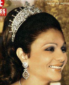 Tiara Mania: Diamond Tiara worn by Empress Farah of Iran