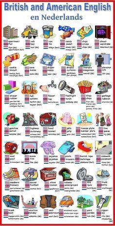 British and American English ... en Nederlands (vocabulary / woordenschat)