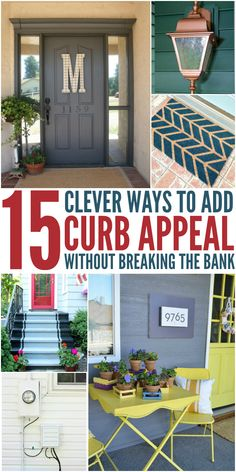 Update your exterior on the cheap with these 15 clever (and beautiful) ways to add curb appeal to your home. Learn how to update your exterior on the cheap with these 15 clever (and beautiful) ways to add curb appeal to your home. Diy Hacks, Home Hacks, Diy Home Decor Rustic, Cheap Home Decor, Home Staging, Home Renovation, Home Remodeling, Kitchen Renovations, Diy Spring