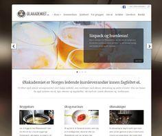 Dette er Ølakademiets nettside. De har brukt Idium Wordpress.