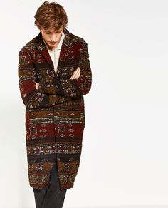 BOUCLÉ-MANTEL Boucle Coat, Zara United States, Winter Jackets, Mens Fashion, My Style, How To Wear, Outfits, Clothes, Coats