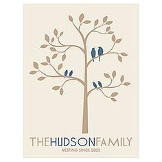 personalized family tree wall art from RedEnvelope.com