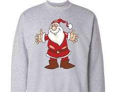 Christmas Santa Jumper Gift Cotton Sweater Mens Ladies Womens Novelty Xmas Sweatshirt 2015