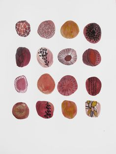 sweet stones by tsktsk (etsy) ink and acrylic illustration #drawing #painting