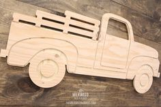 Vintage Pick-up Truck Cutout Sign Christmas Red Truck, Christmas Wood, Wooden Crafts, Wooden Toys, Diy Jewlery Box, Diy Christmas Crafts To Sell, Truck Crafts, Red Truck Decor, Up Auto