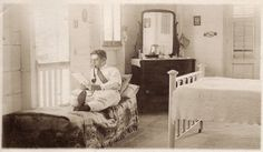 Unknown Photographer or Sitter / c. 1910s / Man with a Wellington Pipe Reading