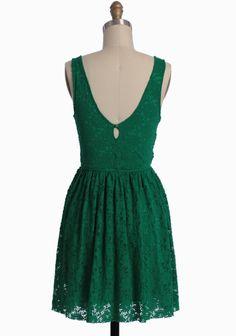 Setting Sun Green Lace Dress