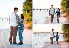 Janice Louise Photography | Delaware Couple's Photographer | Tyndall Air Force Base, Panama City, Florida | beach, palm trees, dock