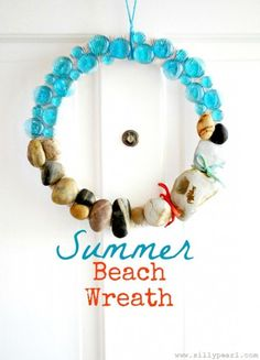 All the shells and rocks kids collect during trips   Make a Summer Beach Wreath Keep Your iPad safe at the beach - try a waterproof Splashtablet iPad Case.  Free Shipping! Under $40. On Amazon. Great Reviews