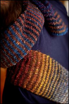 Noro Scarf III, by Jared Flood. Pinned from brooklyntweed, via Flickr. (If only I had that yarn!)