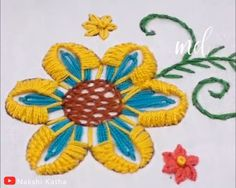 Get creative & try out hand embroidery with its limitless designs! By: Nakshi Katha Get creative & try out hand embroidery with its limitless designs! By: Nakshi Katha Simple Hand Embroidery Patterns, Hand Embroidery Videos, Embroidery Stitches Tutorial, Embroidery Flowers Pattern, Creative Embroidery, Modern Embroidery, Learn Embroidery, Crewel Embroidery, Embroidery Kits
