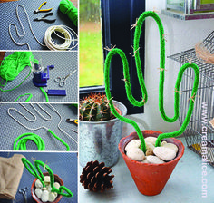 jpg x - – petit-cactus-punniken-ideas. Deco Cactus, Cactus Cactus, Cactus Craft, Diy Crafts To Do, Cactus Y Suculentas, Diy For Kids, Diy Room Decor, Pom Poms, Christmas Diy