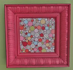 UpCycled Raspberry Frame w/ a Fun Bubbly Print by AquaXpressions, $18.00