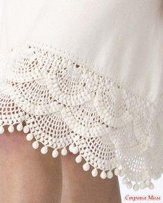 esquema de crochet parecido a encaje