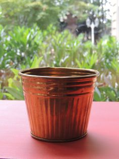 Vintage Brass Tin Cachepot by LeBrunDesignsInc on Etsy