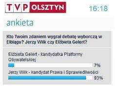 Według ankiety TVP Olsztyn Jerzy Wilk wygrał debatę