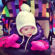 adorable neon pink mittens!!! LOVE IT! #7amenfant #pink #mittens #littlehands #instababy