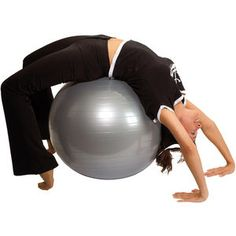 Inflatable exercise ball Fit 30 deflated with a pump