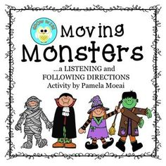 halloween monsters following directions tactile learning listening - Halloween Following Directions