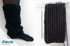 Für den Herbst und Winter sind gestrickte Beinstulpen mit Patentmuster perfekt. Wir zeigen Ihnen in dieser Anleitung, wie Sie solche Beinstulpen stricken.