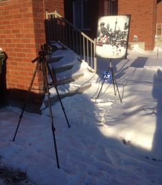 Braving a -24C windchill to photograph some paintings