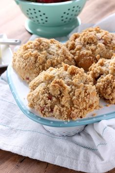 Bakery Style Strawberry Crumb Muffins Recipe from A Kitchen Addiction