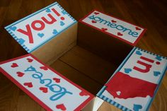 Someone Loves You Care Package Tabs on Etsy, $7.00