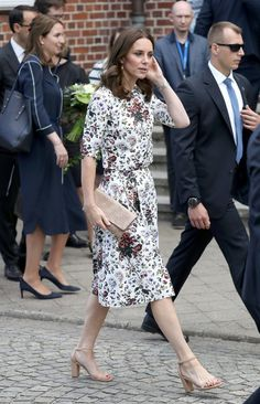 Catherine, Duchess of Cambridge visits the Stutthof concentration camp during an official visit to Poland and Germany on July 18, 2017 in Gdansk, Poland.