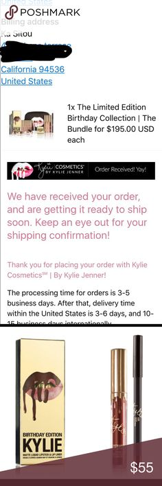 Brand new Kylie Leo lip kit Ordered as part of the bundle. Listing is for LIP KIT ONLY. Will not come with kylie box or card, will be brand new in box Kylie Cosmetics Makeup Lipstick