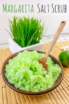 DIY Margarita Salt Scrub - Make your own lime and sea salt scrub... with or without tequila! Perfect for gift giving.