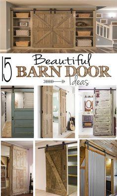15 beautiful ways to work barn doors into your decor: