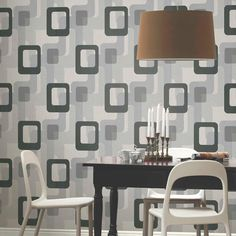 A delightful geometric wallpaper from P&S International to add character to your home. In stock for next day delivery at Go Wallpaper. Wallpaper For Sale, Retro Wallpaper, Vinyl Wallpaper, Wallpaper Designs, Wallpaper Ideas, Geometric Wallpaper Orange, Washable Wallpaper, Dining Room Wallpaper