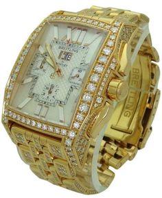 Breitling 18K Gold Diamond Bentley Flying B Chronograph Limited Edition Watch