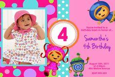 Team Umizoomi Birthday Invitations