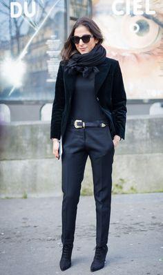Street chic of Capucine Safyurtlu ... Paris (feb 2014)