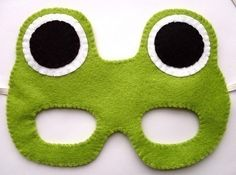 leap day crafts - felt mask _ I could make this cuter, but like the idea Kids Crafts, Frog Crafts, Sewing Crafts, Sewing Projects, Projects To Try, Felt Projects, Frog Birthday Party, Birthday Hats, Baby Birthday