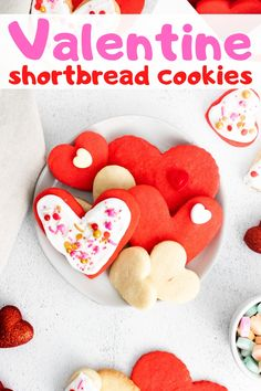 Make a batch of easy ad delicious shortbread heart cookies for Valentine
