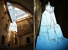 """SkyArt :  French artist Thomas Lamadieu creates his """"sky art"""" by combining photography and line drawings."""