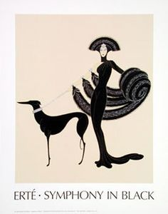 Erte Romain de Tirtoff was born in St Petersburg in 1893 and showed a zeal for costume design by making his first creation at the age of 5! He moved to Paris in 1912 and soon began as a fashion illustrator for the Harper's Bazaar at the age of 22. Although his father wished him to pursue a career in the military. He spent many decades of his career disigning fashion clothing for operas and theaters in New York, London, and Paris, France.