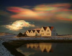 Very Rare Rainbow (Polar stratospheric) Clouds in Greenland